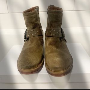 Josef Seibel Suede Ankle Western Studded Boots 12